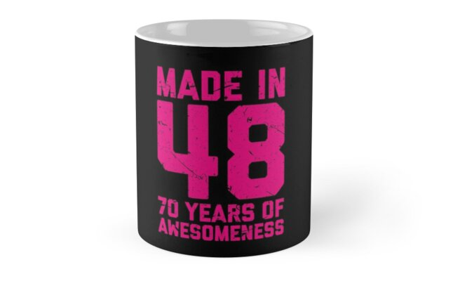 70th Birthday Gift Adult Age 70 Year Old Women Womens By Matt L