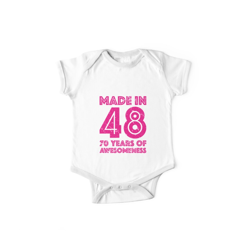 70th Birthday Gift Adult Age 70 Year Old Women Womens One Piece