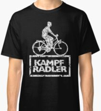 Cyclist Cyclist Riding Bicycle (Vintage White) Classic T-Shirt