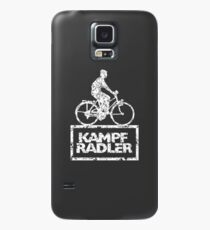 Cyclist Cyclist Riding Bicycle (Vintage White) Case/Skin for Samsung Galaxy