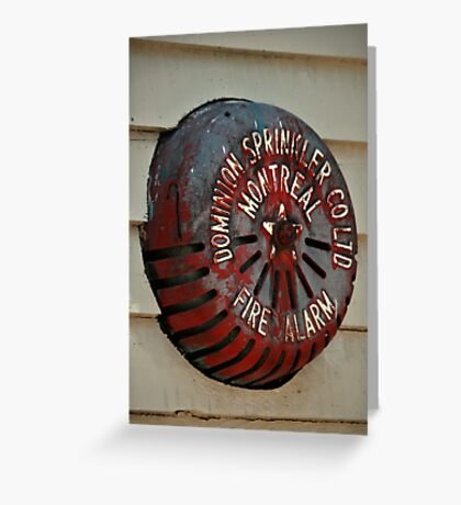 Old Fire Sprinkler Greeting Card