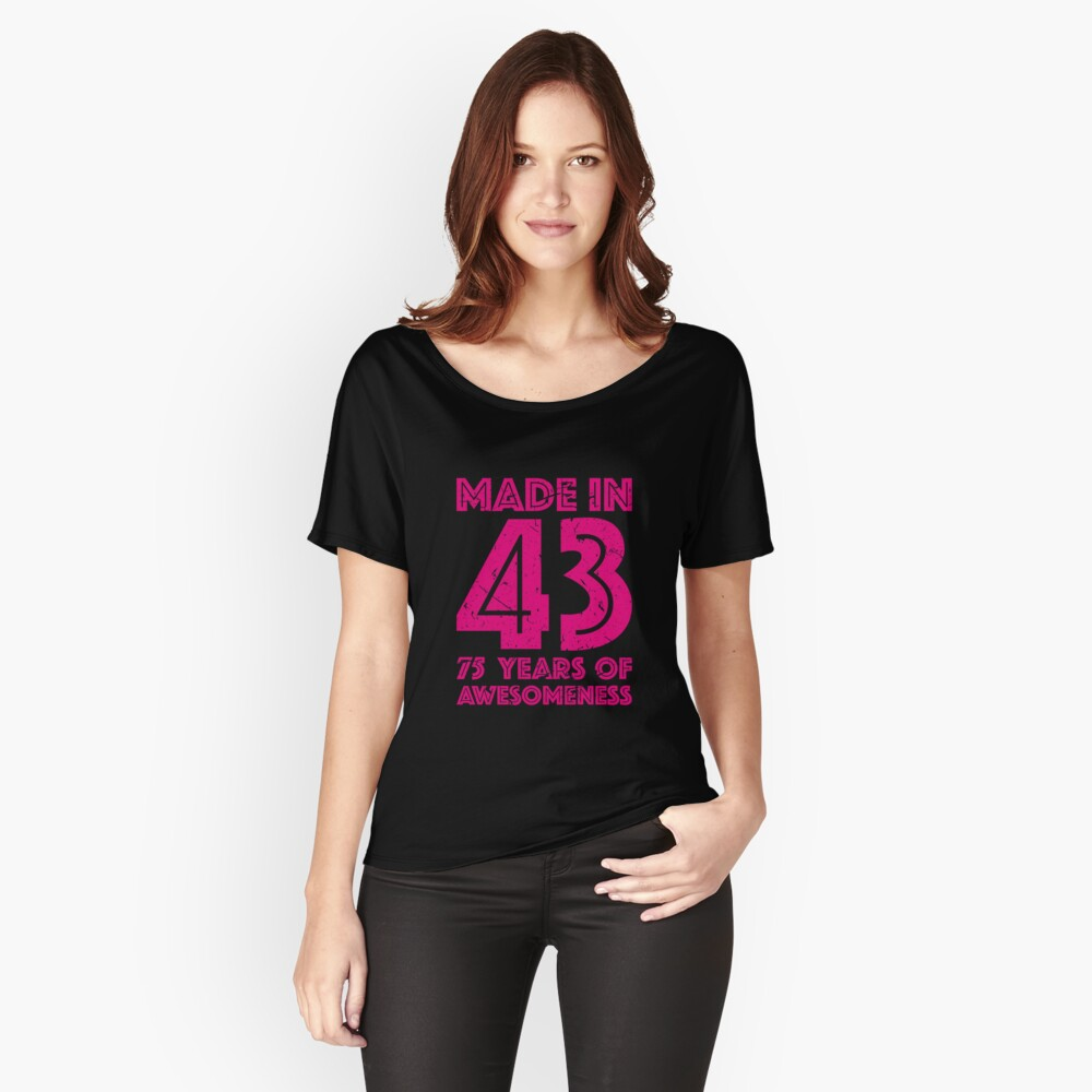 Womens Relaxed Fit T Shirt