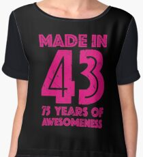 75th Birthday Gift Adult Age 75 Year Old Women Womens Chiffon Top