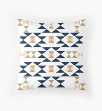 Jas - Modern pattern design in aztec themed pattern navajo print textile cute trendy girl Throw Pillow