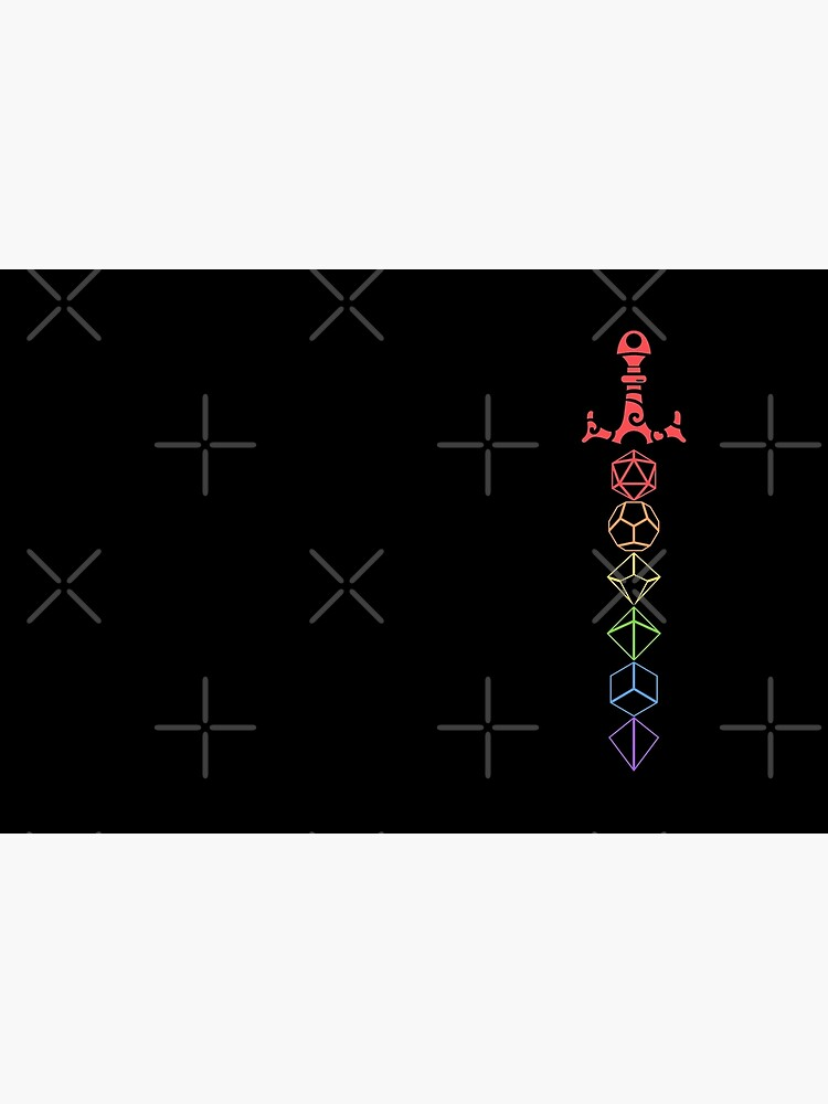 Rainbow Dice Sword LGBT Tabletop RPG Gaming by pixeptional