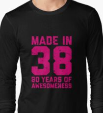 80th Birthday Gift Adult Age 80 Year Old Women Womens Long Sleeve T-Shirt