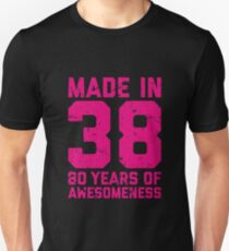 80th Birthday Gift Adult Age 80 Year Old Women Womens Unisex T-Shirt