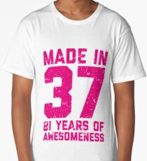 81st Birthday Gift Adult Age 81 Year Old Women Womens Long T Shirt