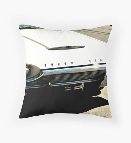 Old White T-Bird Throw Pillow