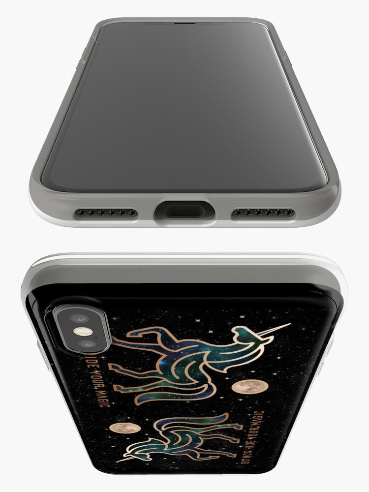 Vista alternativa de Funda y vinilo para iPhone No ocultes tu magia - Unicornio galáctico