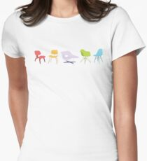 Ray & Charles Eames Chairs Classic Design Women's Fitted T-Shirt