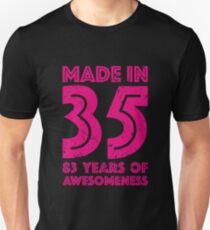 83rd Birthday Gift Adult Age 83 Year Old Women Womens Unisex T Shirt