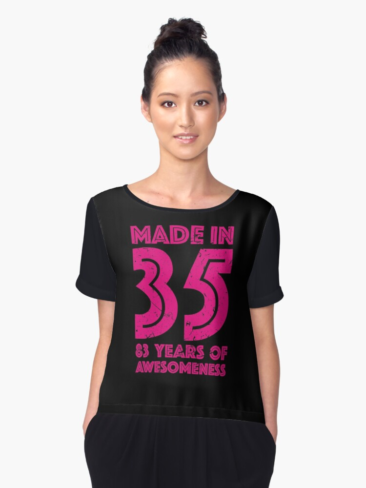 83rd Birthday Gift Adult Age 83 Year Old Women Womens Chiffon Top Front