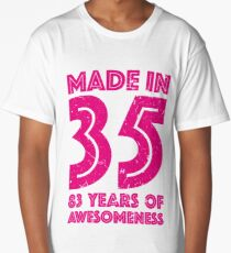 83rd Birthday Gift Adult Age 83 Year Old Women Womens Long T Shirt