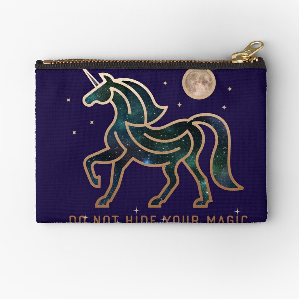 No ocultes tu magia - Unicornio galáctico Bolsos de mano