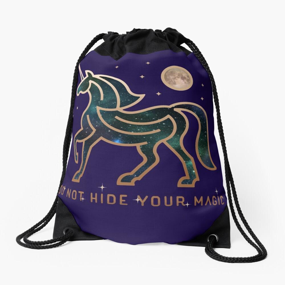 No ocultes tu magia - Unicornio galáctico Mochila saco