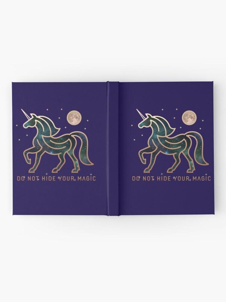 Vista alternativa de Cuaderno de tapa dura No ocultes tu magia - Unicornio galáctico