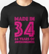 84th Birthday Gift Adult Age 84 Year Old Women Womens Unisex T Shirt