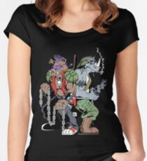 Rocksteady & Bebop Women's Fitted Scoop T-Shirt