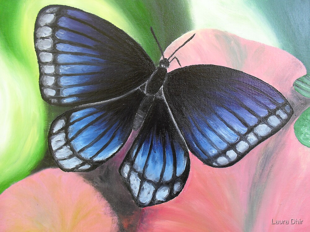 Blue Butterfly by Laura Dhir