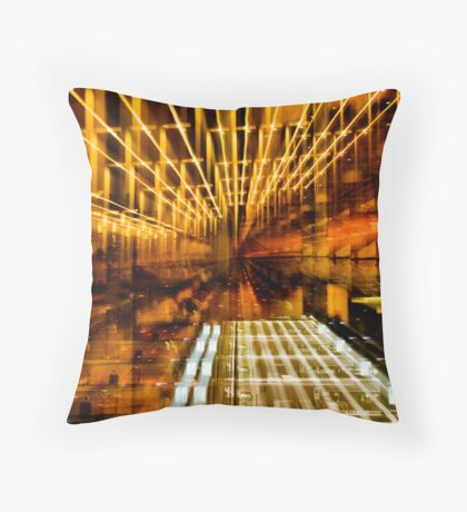 Hive of Gold Throw Pillow