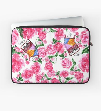 Akkordeon mit Rosen Laptoptasche