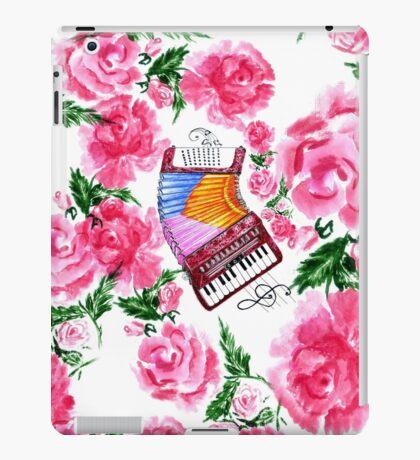 Akkordeon mit Rosen iPad-Hülle & Klebefolie