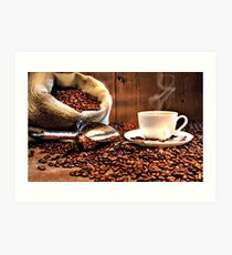 The Wonderful Aroma of Fresh-Brewed Coffee Art Print