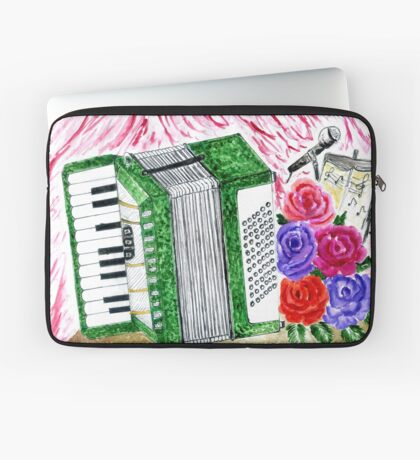 Akkordeon mit Rosen 2 Laptoptasche