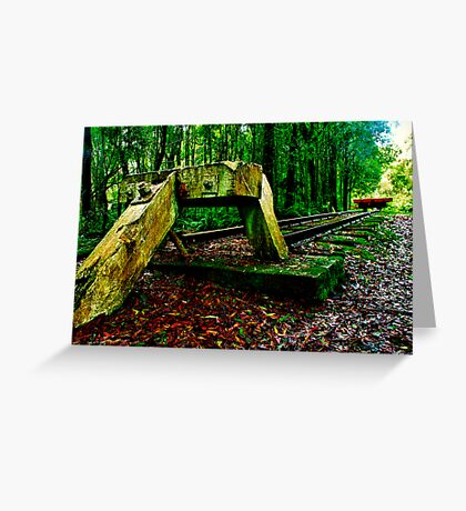 """""""The End Of The Line"""" Greeting Card"""