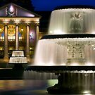 Fountains at the Kurhaus - Wiesbaden, Germany by Yen Baet