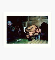 Opium addict and girl Art Print