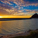 Sunset at Mont St. Michel - Normandy, France by Yen Baet
