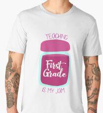 Teaching First Grade Is My Jam Teacher Appreciation Men's Premium T-Shirt