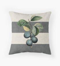 botanical stripes - plums Throw Pillow
