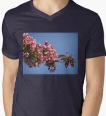 Crab Apple Blossoms Men's V-Neck T-Shirt