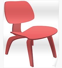 Ray & Chales Eames ICW Chair Classic Design Poster