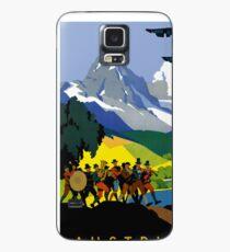 Austria - Vintage Alps Travel Ad Case/Skin for Samsung Galaxy