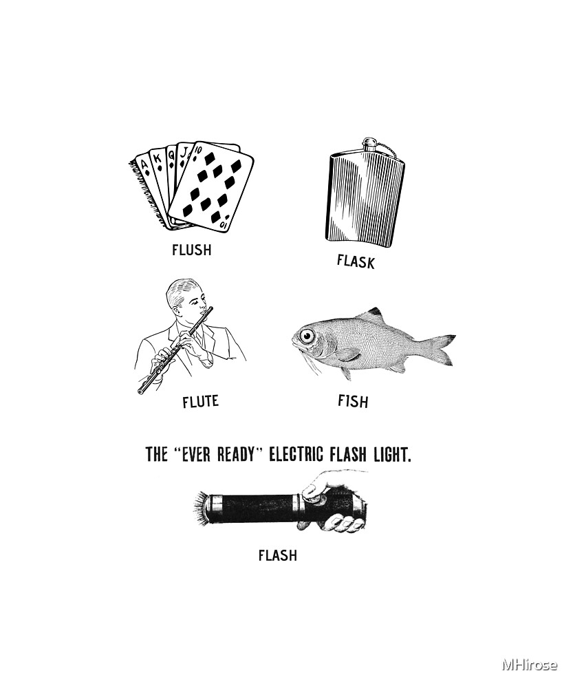 Flush, Flask, Flute, Fish, Flash Fun by MHirose