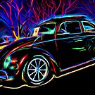 Neon VW Volkswagen Bug  by Michael Moriarty