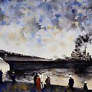 USS Iowa by Louisa McHugh