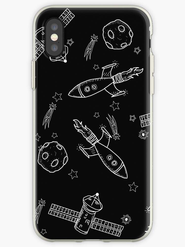 BLACK AND WHITE ROCKET PRINT by Laurensparkes