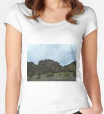 Cliff Crown - Uyuni - Bolivia, South America Women's Fitted Scoop T-Shirt