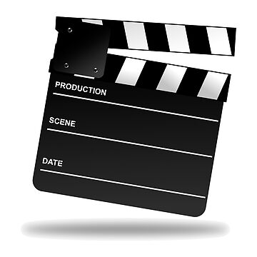 MOVIES, Movie Clapper Board by TOMSREDBUBBLE