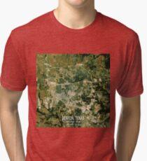 Denton Texas Map Tri-blend T-Shirt