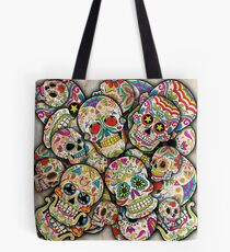 Sugar Skull Collage Tote Bag
