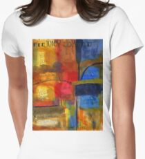 The JOY of Planning an Abstract Painting at Starbucks Womens Fitted T-Shirt