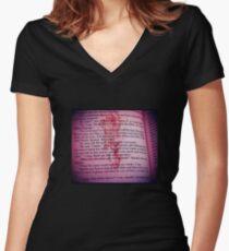 American Psycho - Bret Eason Ellis Women's Fitted V-Neck T-Shirt