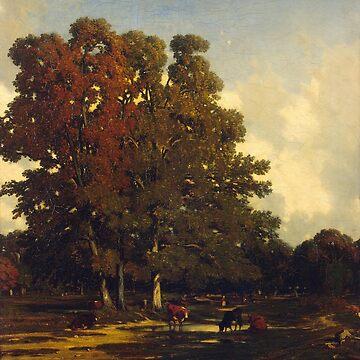 Autumn Landscape-Jules Dupre by LexBauer