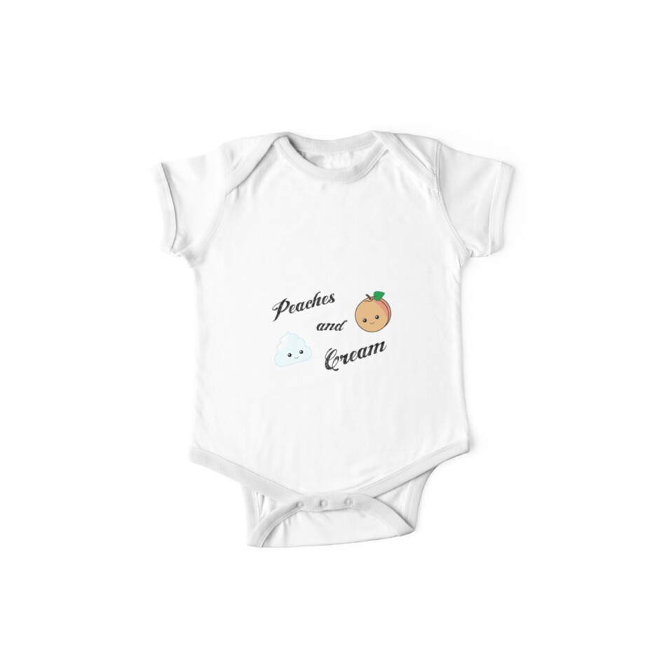 Peaches And Cream One Piece Short Sleeve By Rhiannabear Redbubble